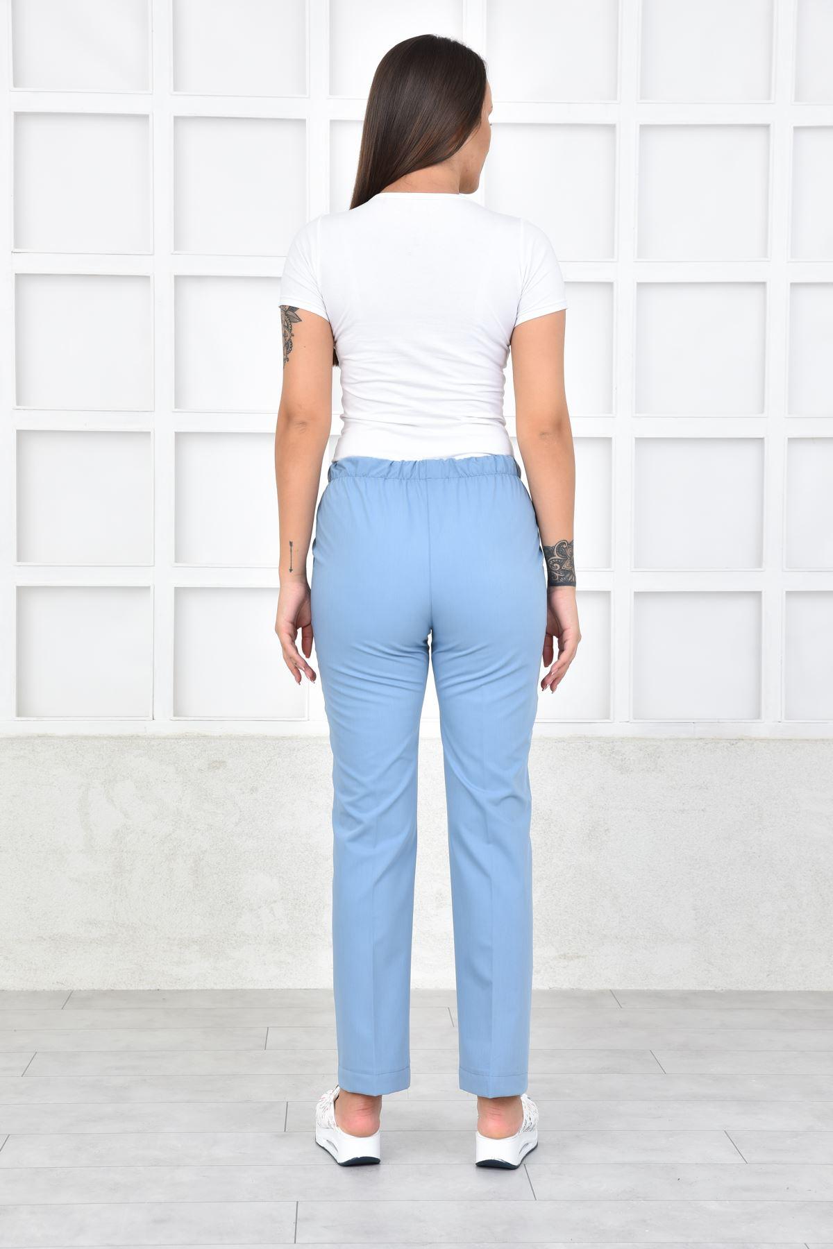 1010 BULUT MAVİ lastikli pantolon